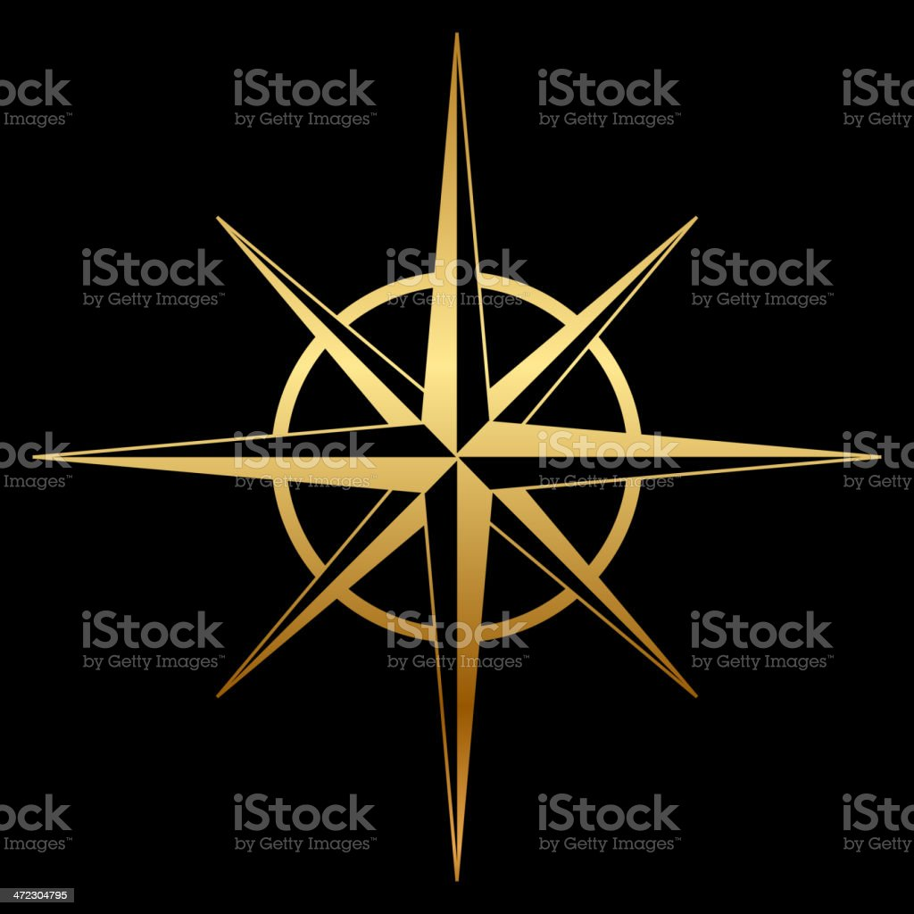 compass rose icon royalty-free stock vector art
