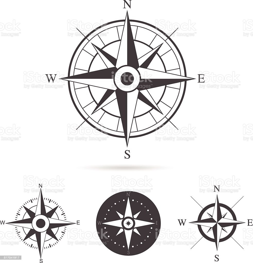 Compass Rose Vector Collection vector art illustration
