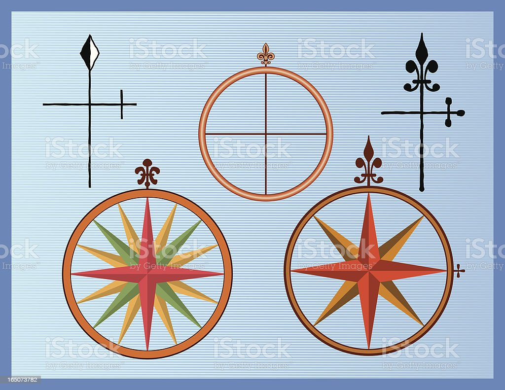 Compass Rose royalty-free stock vector art