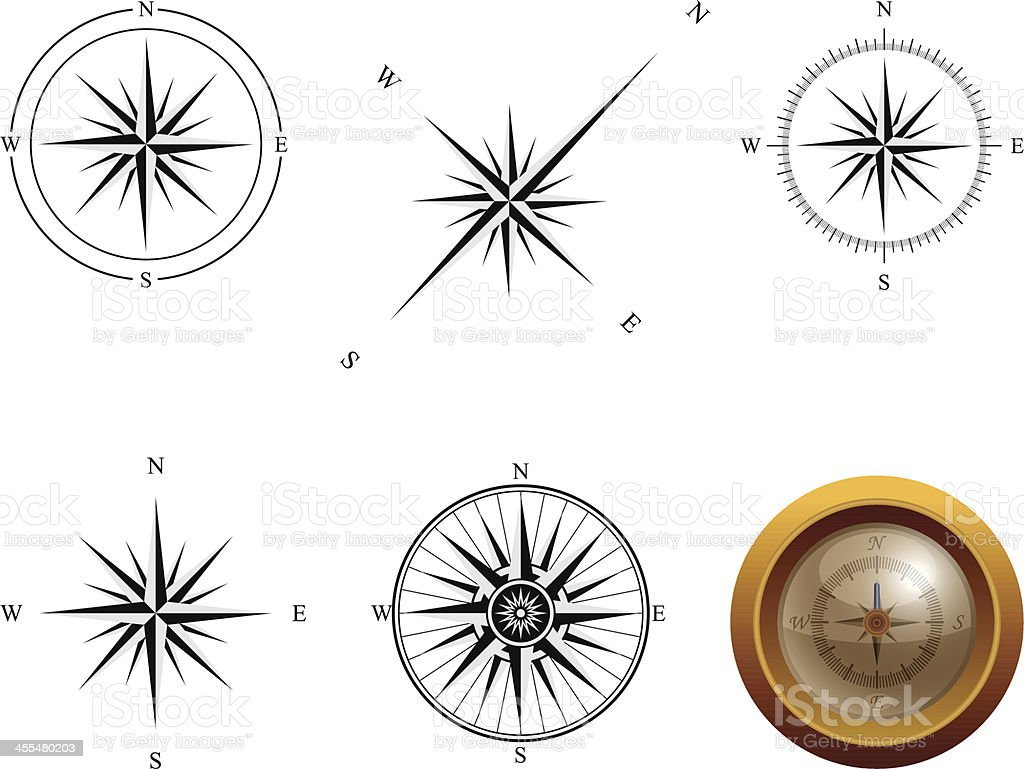 compass roses royalty-free stock vector art