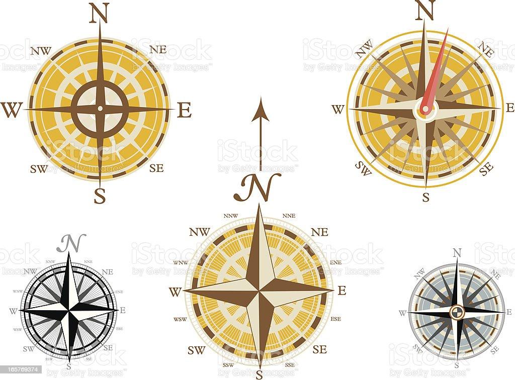 Compass Set royalty-free stock vector art