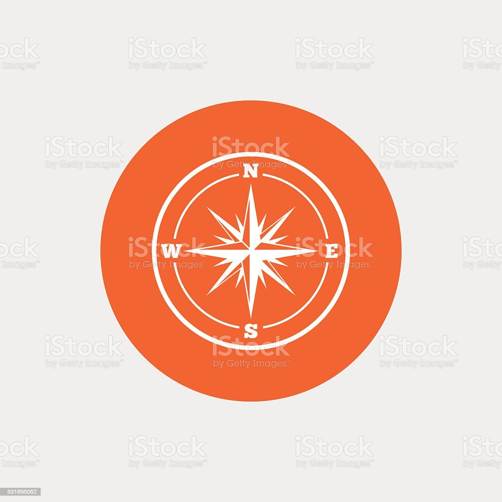 Compass sign icon. Windrose navigation symbol. vector art illustration
