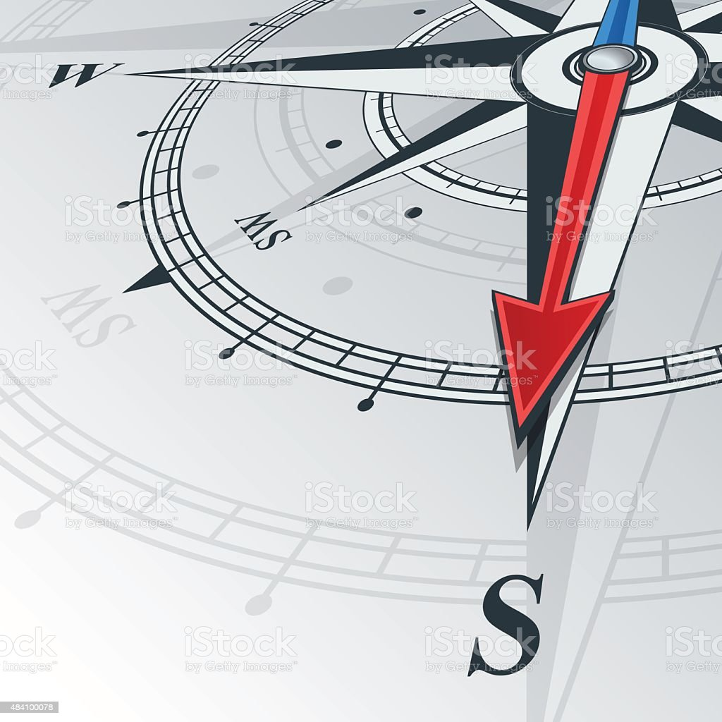 compass south vector art illustration
