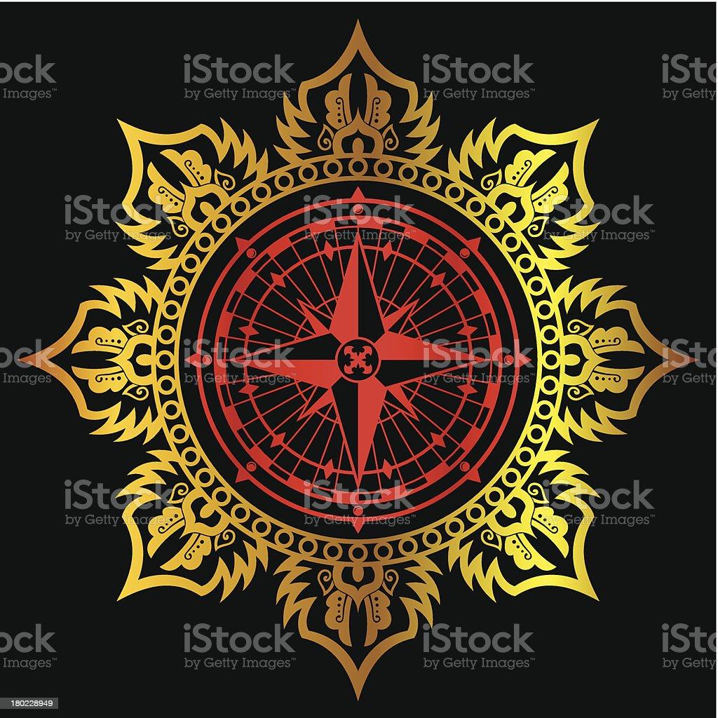 Compass symbol royalty-free stock vector art