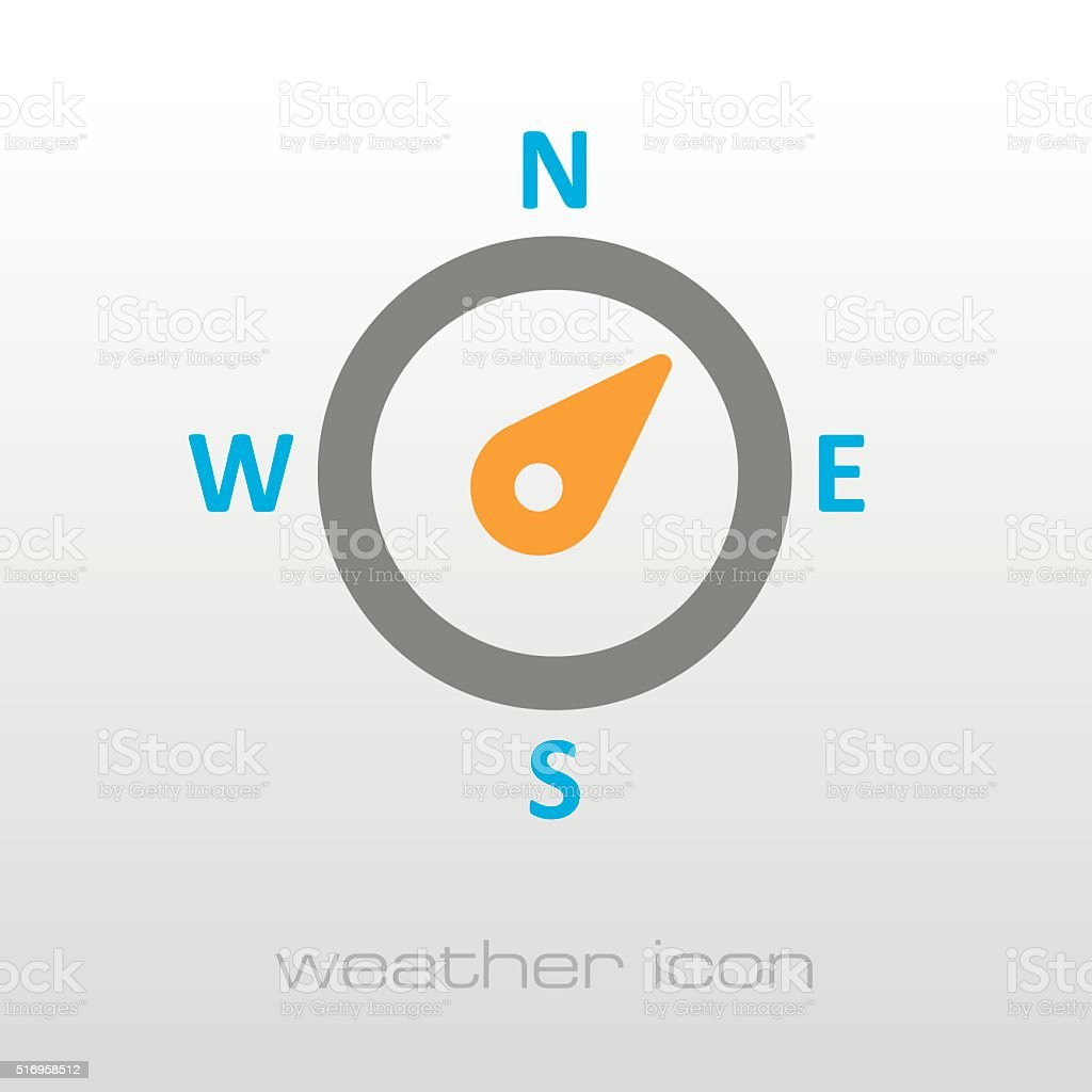 Compass wind rose icon. Meteorology. Weather vector art illustration