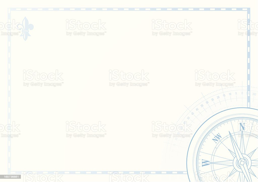 Compass with empty background vector art illustration