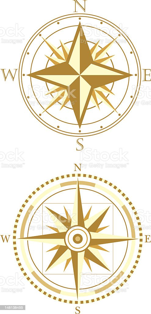 Compasses royalty-free stock vector art