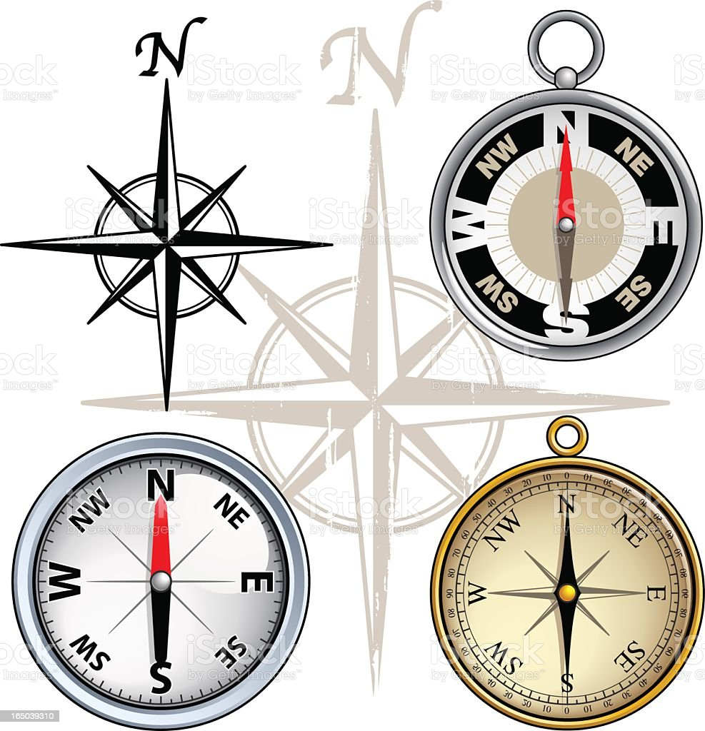 compasses (vector) royalty-free stock vector art