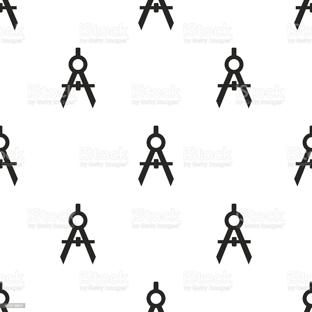 compasses, vector seamless pattern vector art illustration