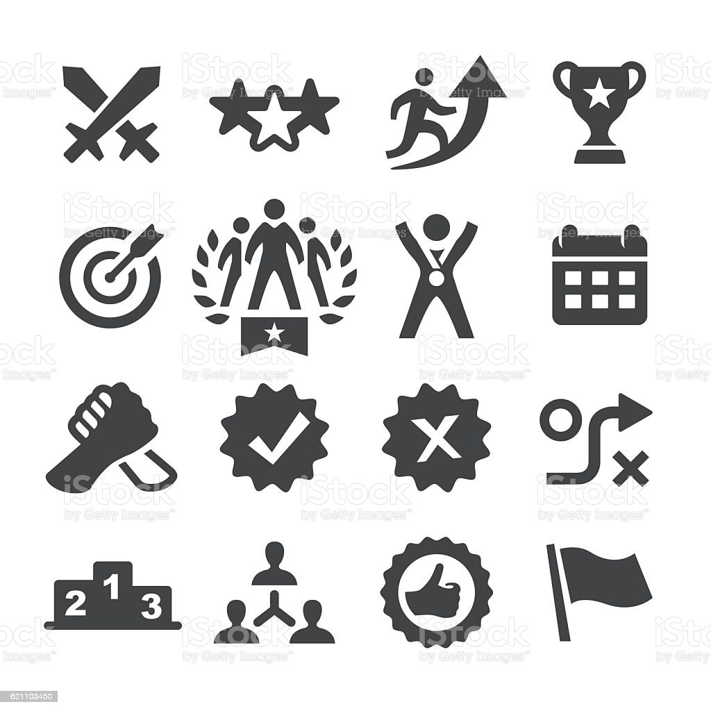 Competition Icons Set - Acme Series vector art illustration