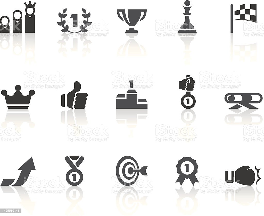 Competition Icons | Simple Black Series royalty-free stock vector art