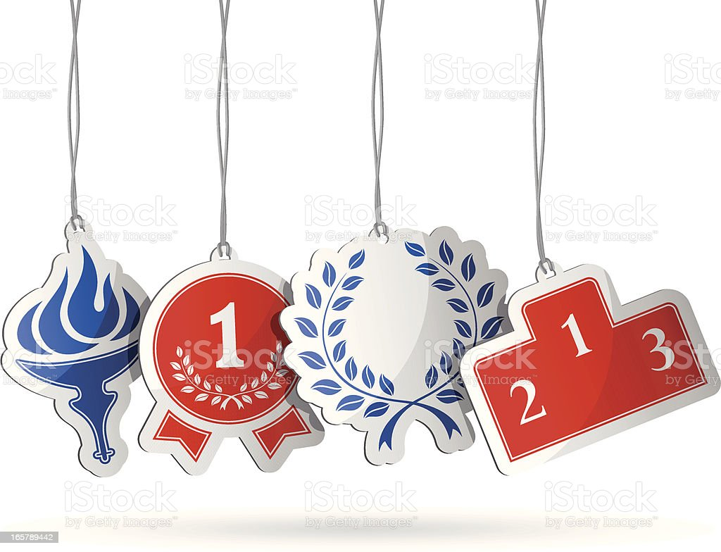 Competition Tags vector art illustration