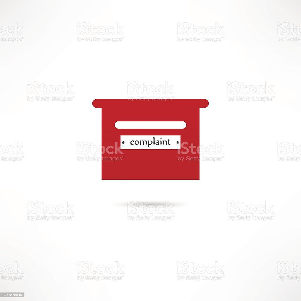 Complaint box vector art illustration