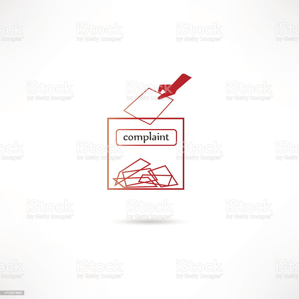 Complaint box with notecards vector art illustration