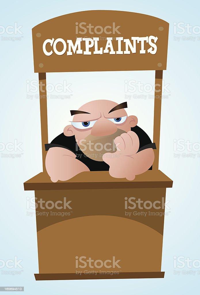Complaint Department Cartoon royalty-free stock vector art