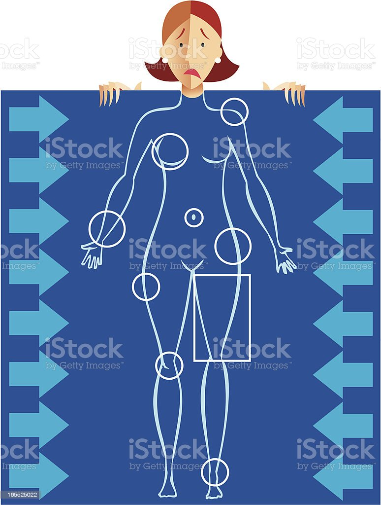 complejos femeninos vector art illustration
