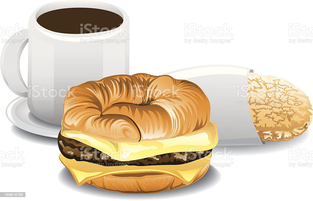 Complete Breakfast vector art illustration