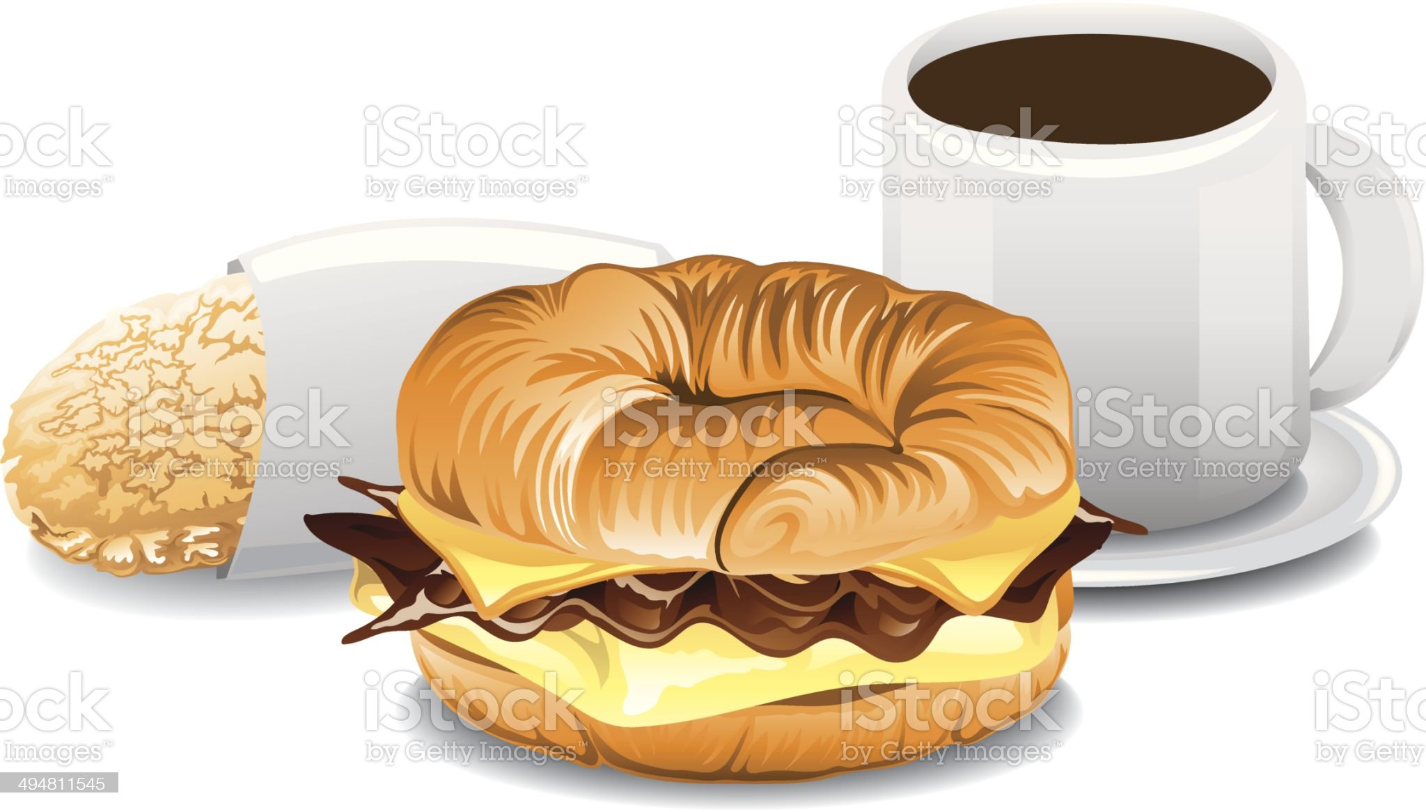 Complete Breakfast royalty-free stock vector art