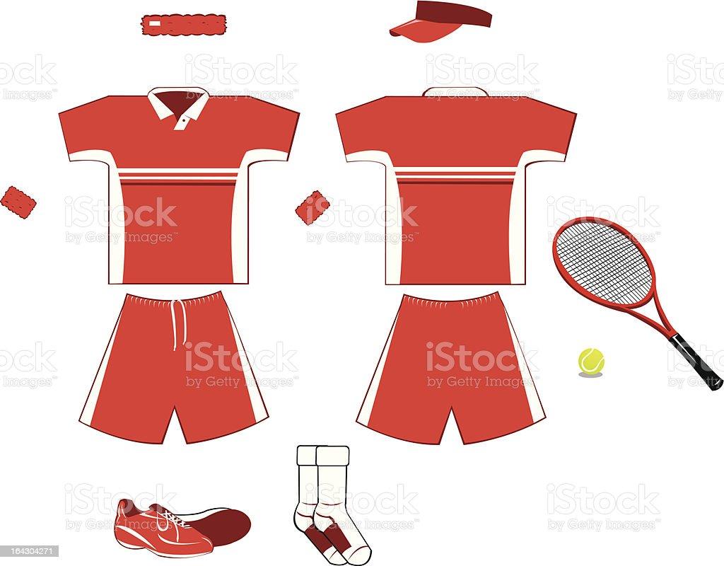 Complete Tennis Equipment royalty-free stock vector art