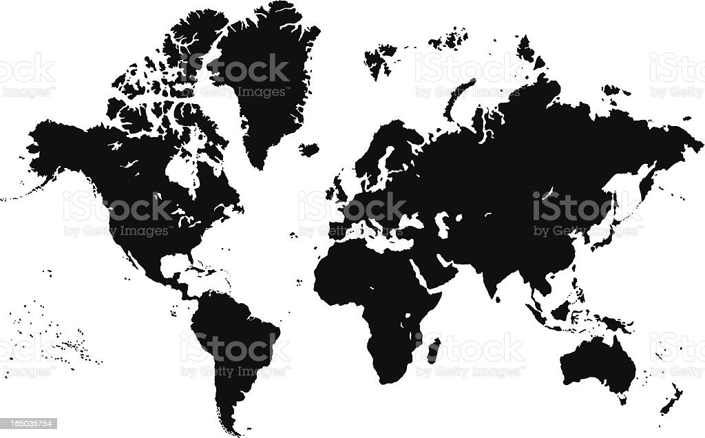 Complete World Map royalty-free stock vector art