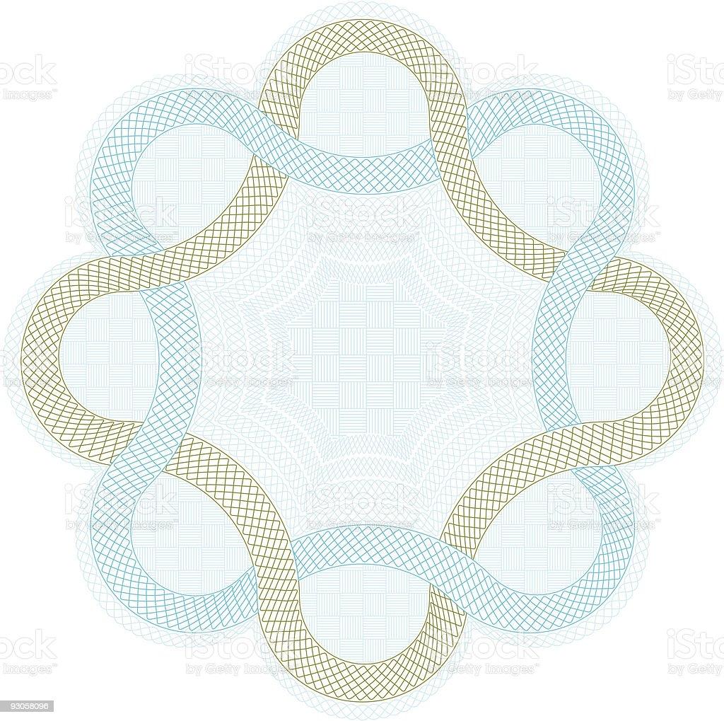 Complex guilloche element vector art illustration