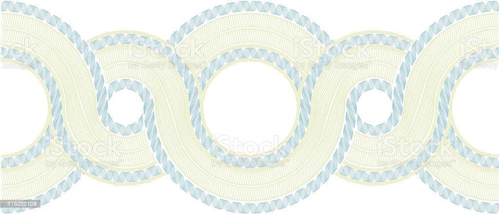 Complex Guilloche Pattern vector art illustration
