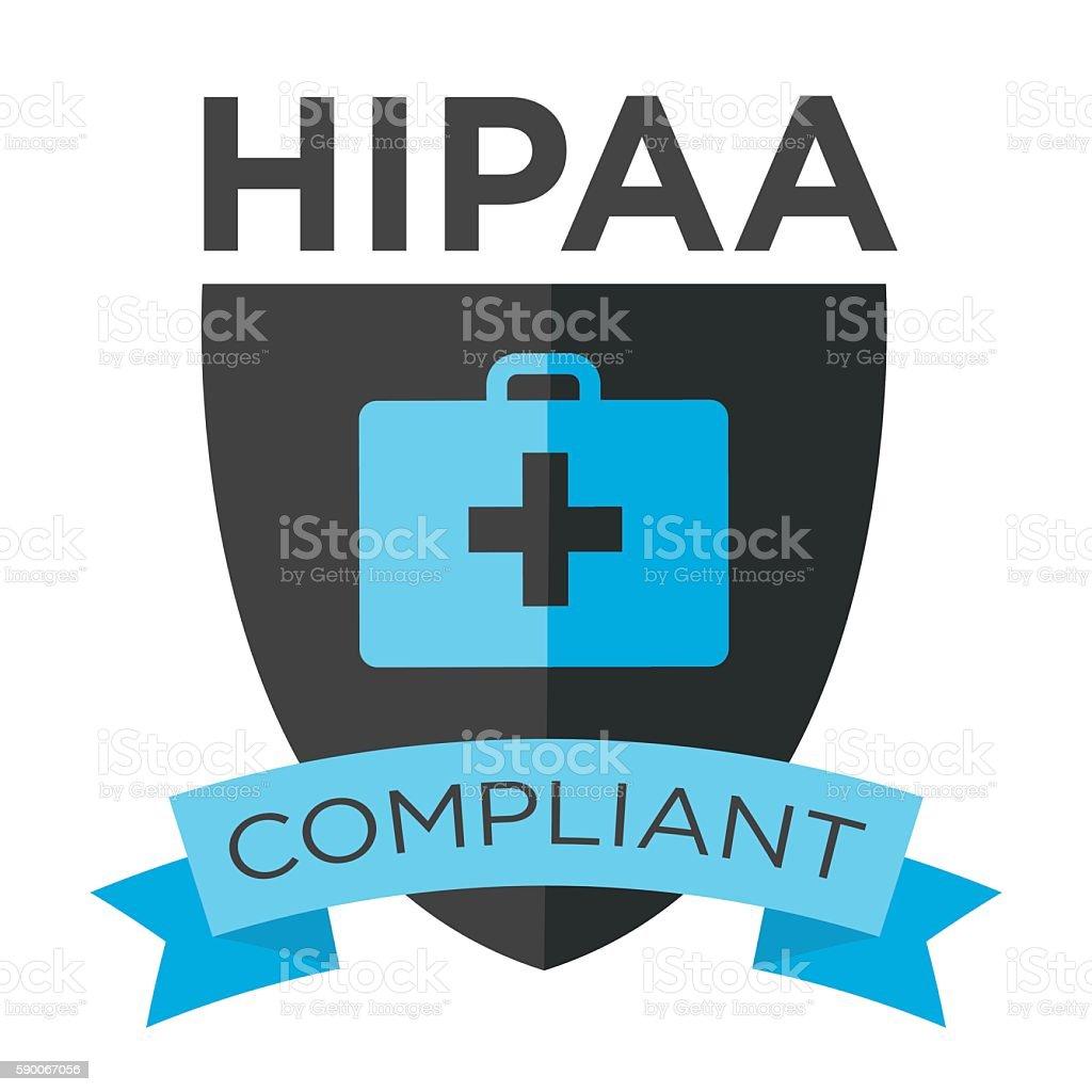 HIPAA Compliance Icon Graphic vector art illustration