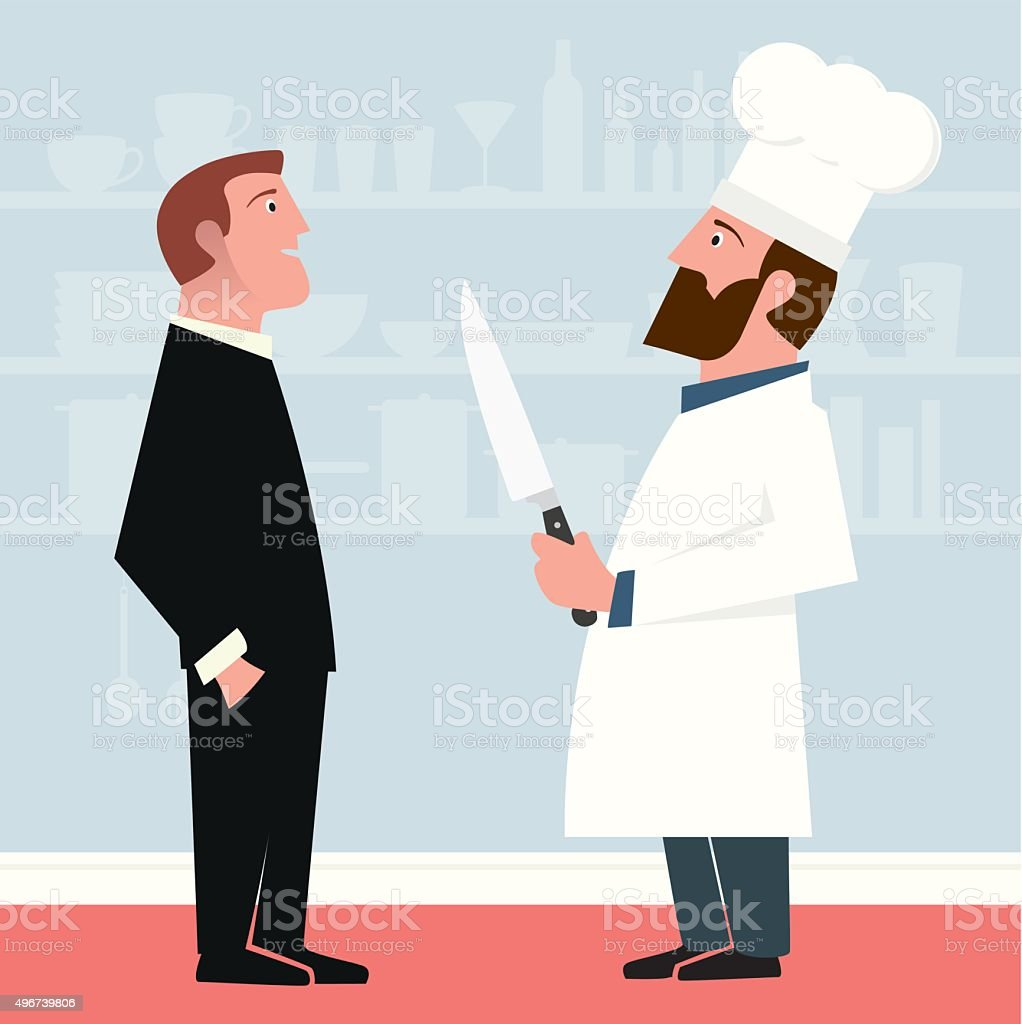 Complimenting the Chef vector art illustration