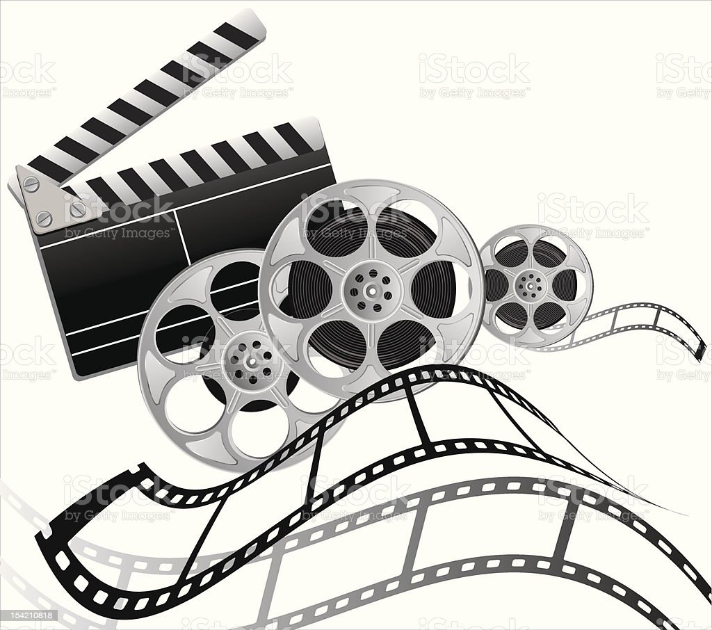 composition of the subjects for shooting a movie royalty-free stock vector art
