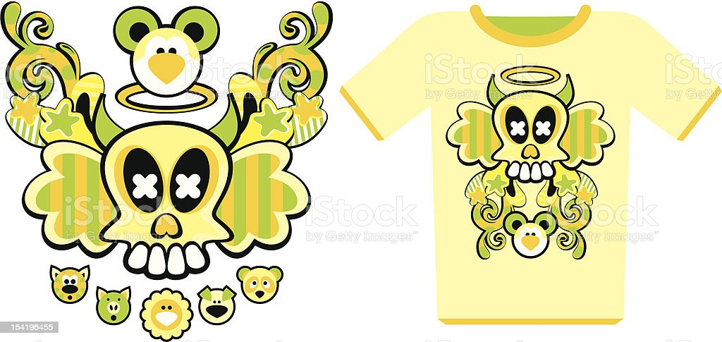 composition on the T-shirt vector art illustration