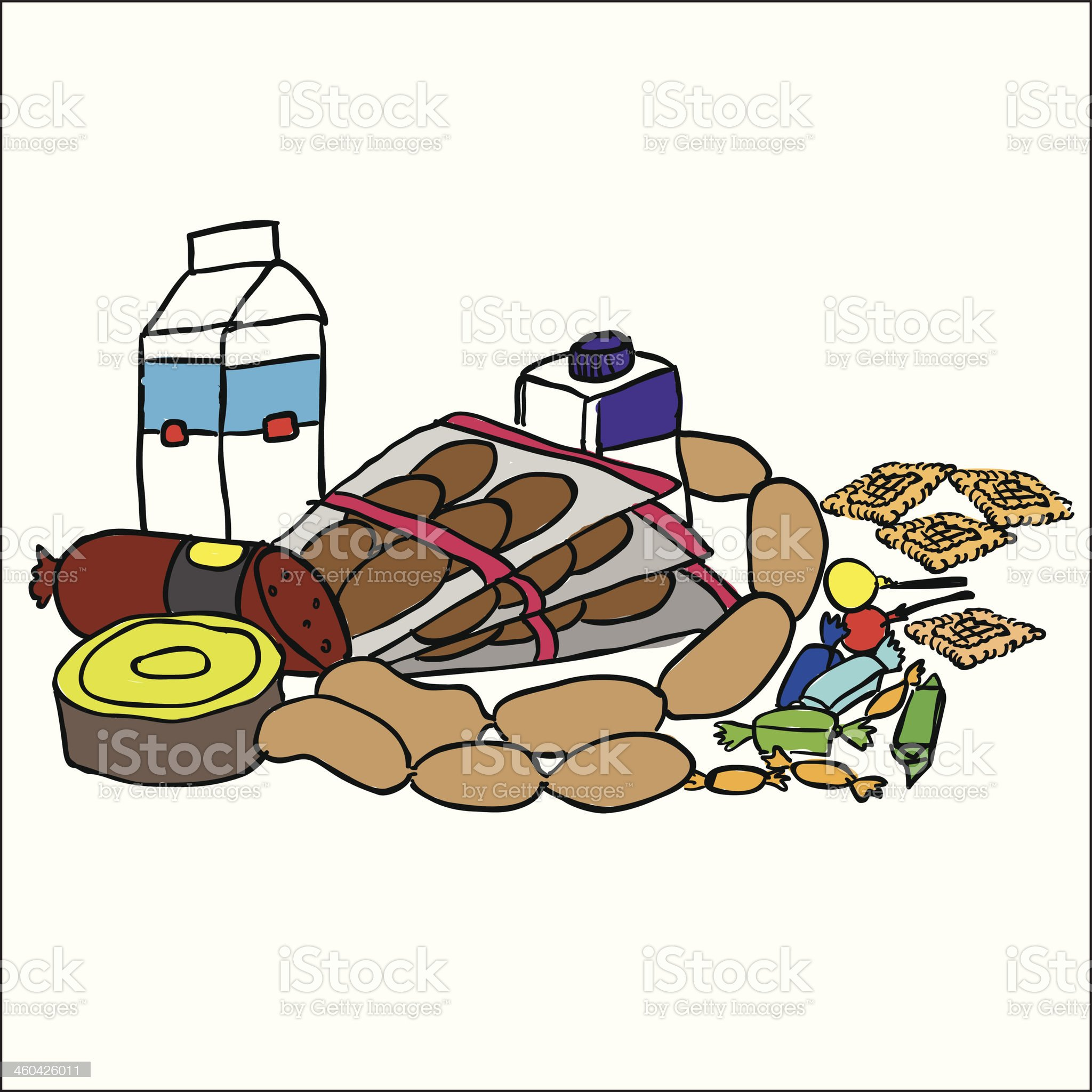 Composition with food products royalty-free stock vector art