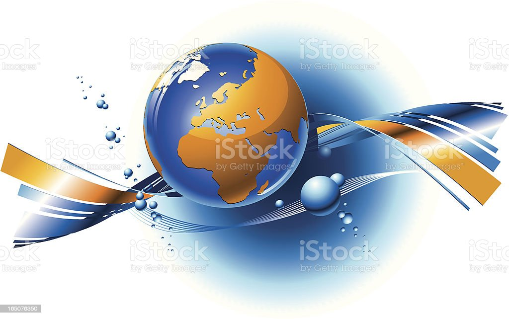 composition with Globe royalty-free stock vector art