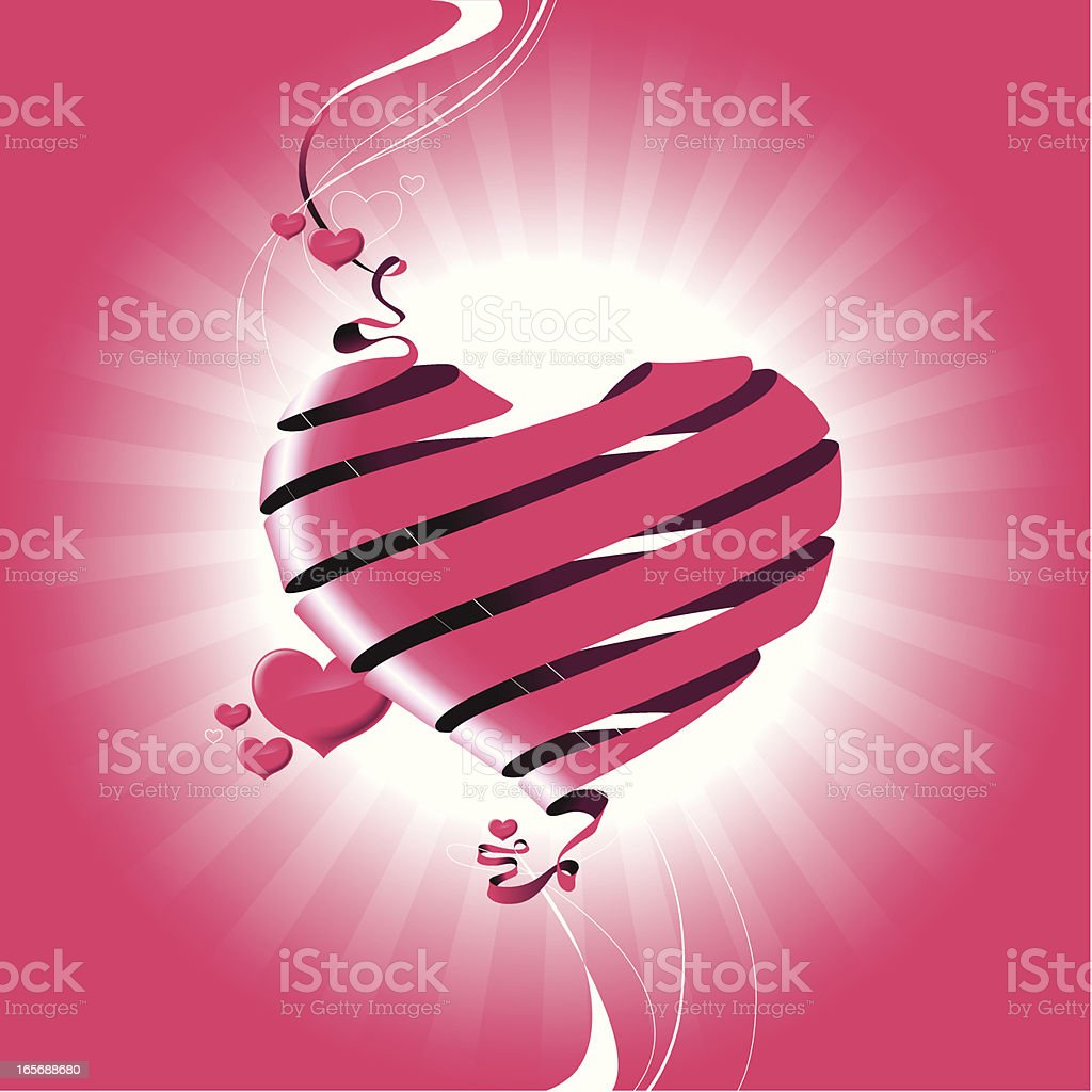 Composition with hearts royalty-free stock vector art