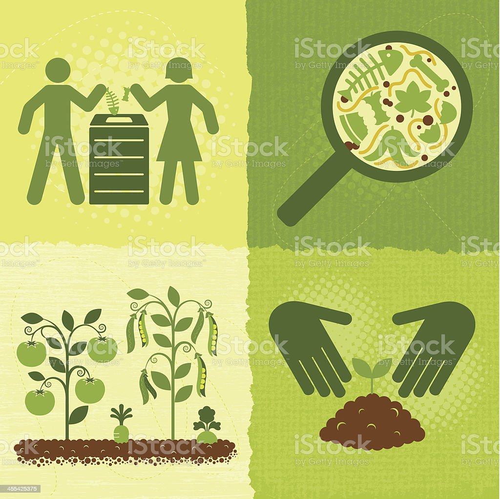 Compost Icons (Green World Series) royalty-free stock vector art