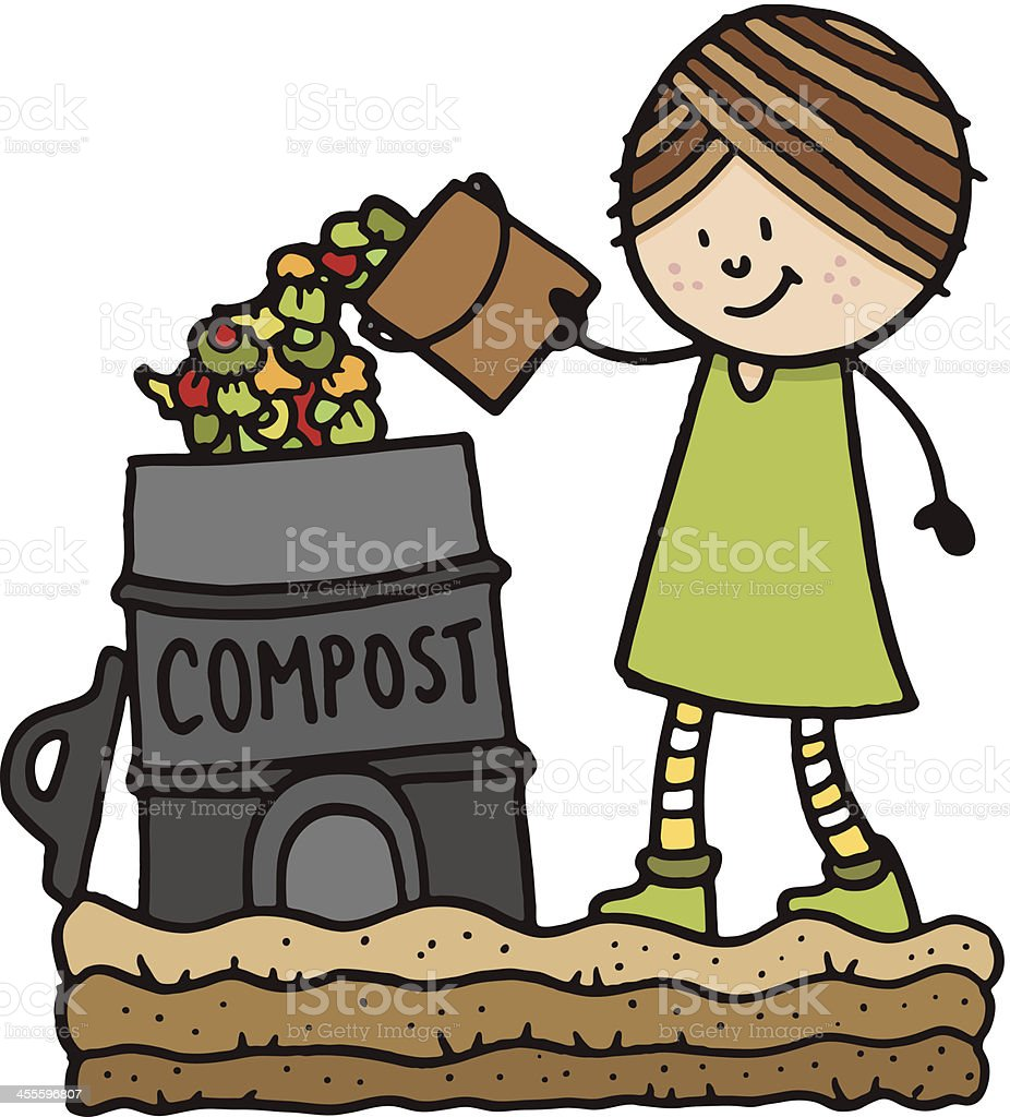 Composting royalty-free stock vector art