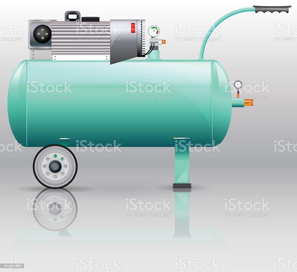 Compressor for painting work vector art illustration