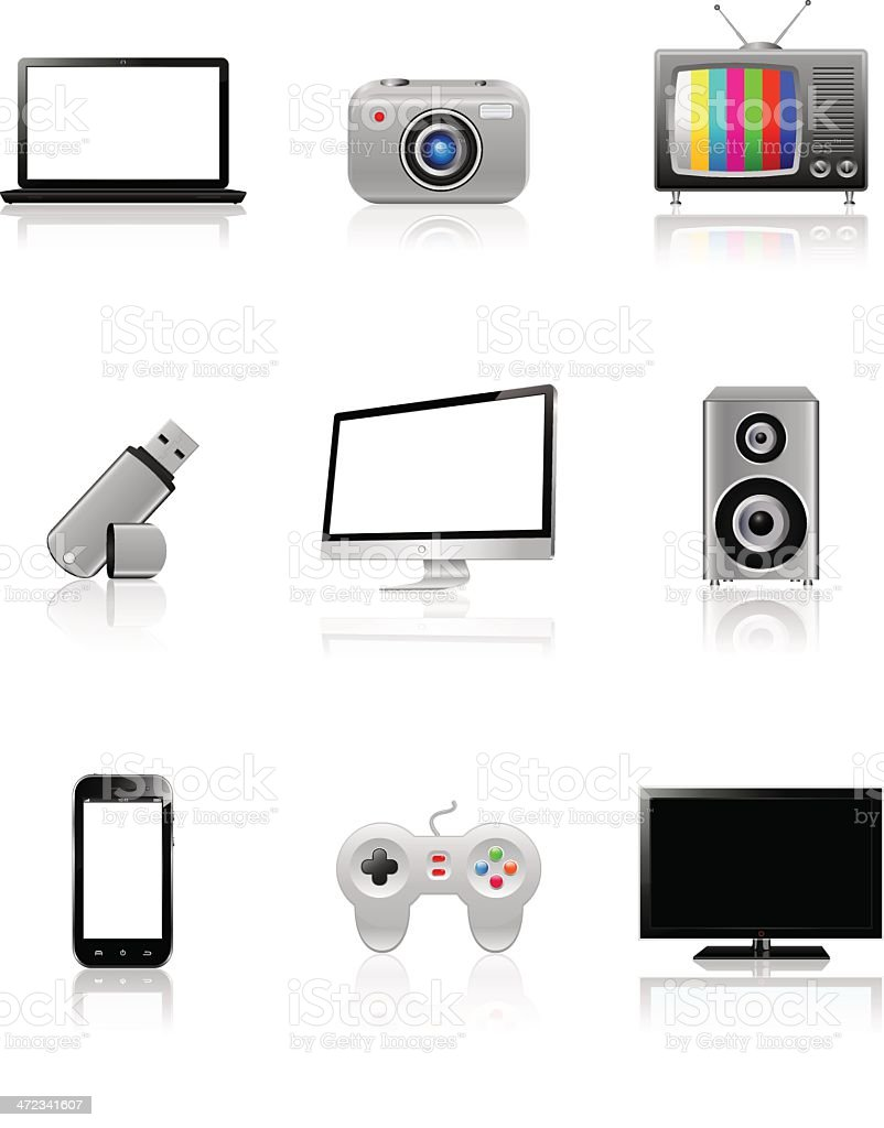 Computer and technology icons royalty-free stock vector art