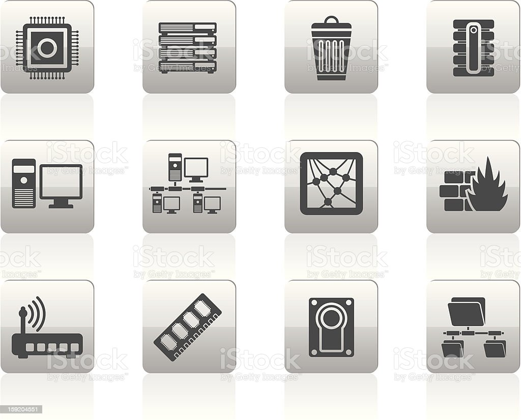 Computer and website icons royalty-free stock photo