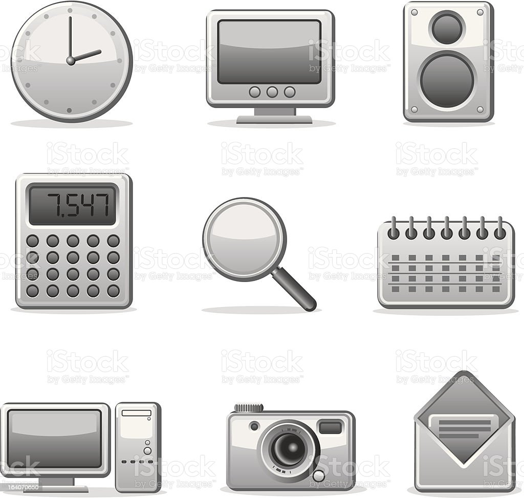 computer applications icon set royalty-free stock vector art