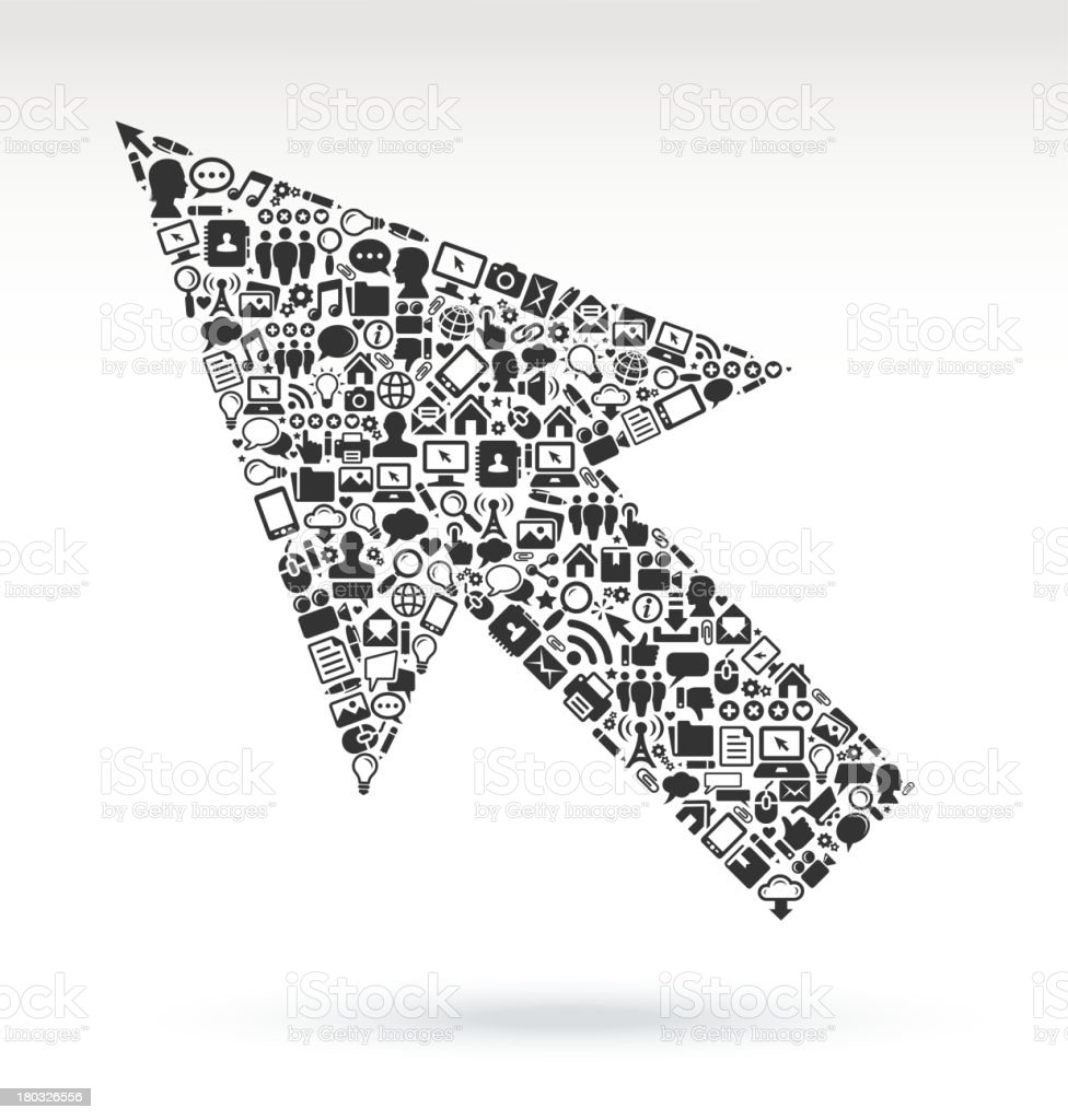 Computer Arrow with Internet & Technology royalty free vector arts royalty-free stock vector art