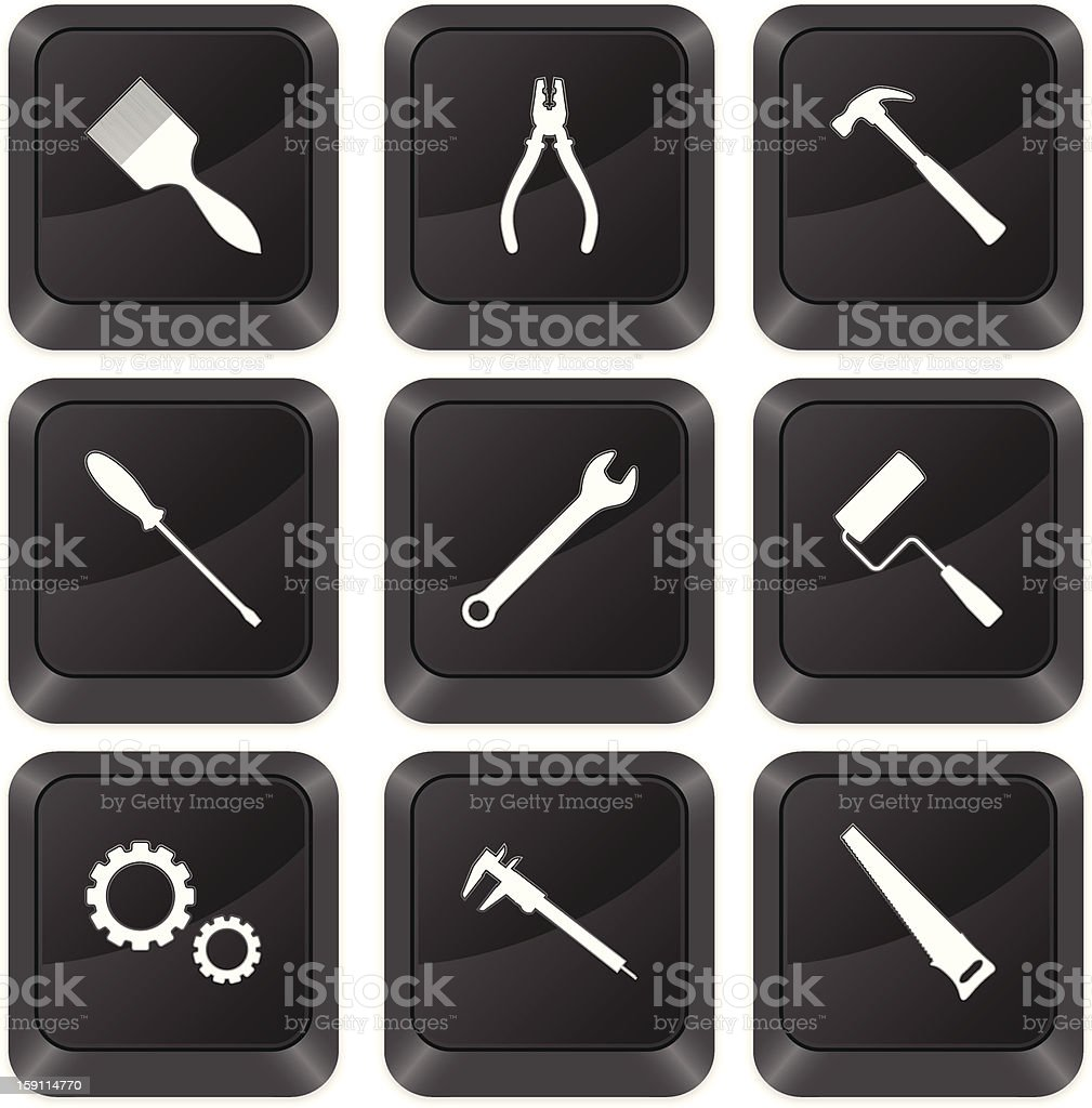 computer buttons tools royalty-free stock vector art