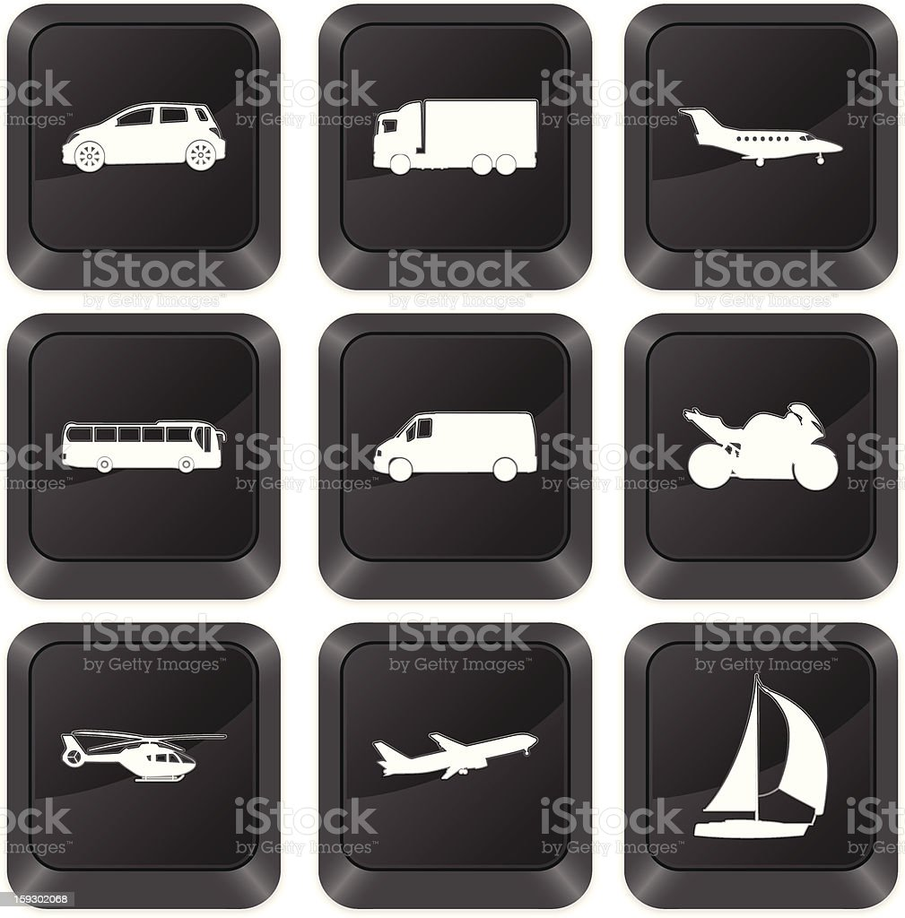 computer buttons transport royalty-free stock vector art