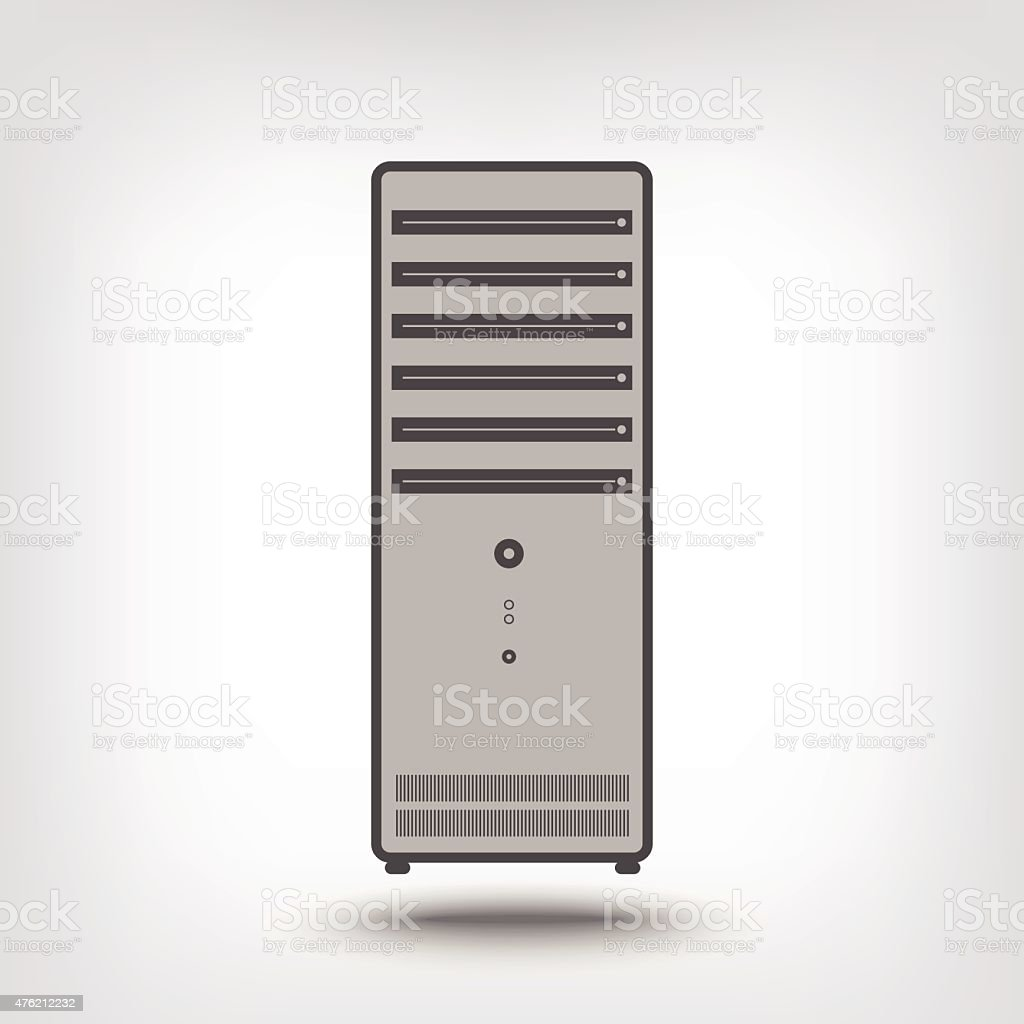 Computer case vector art illustration