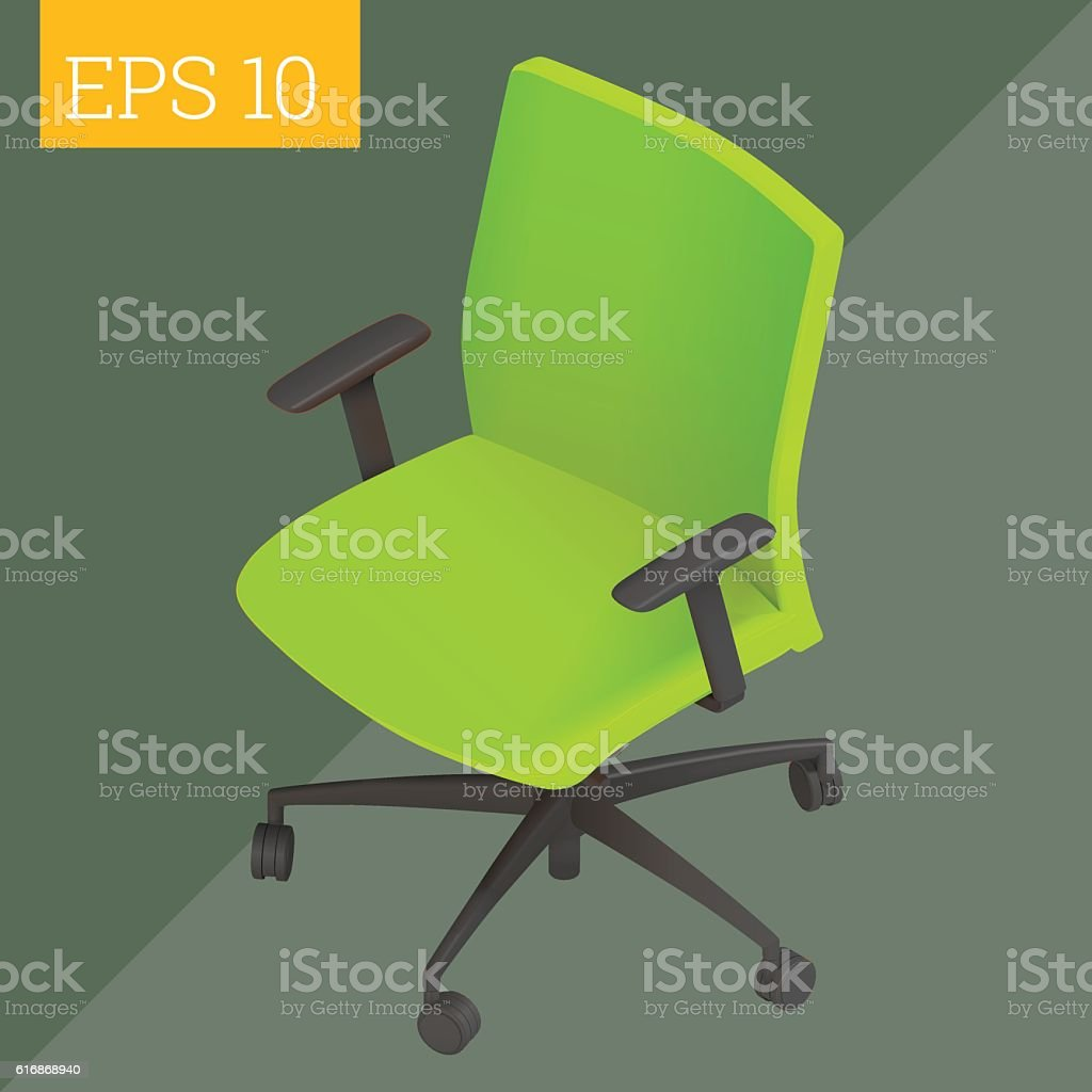computer chair isometric vector illustration vector art illustration
