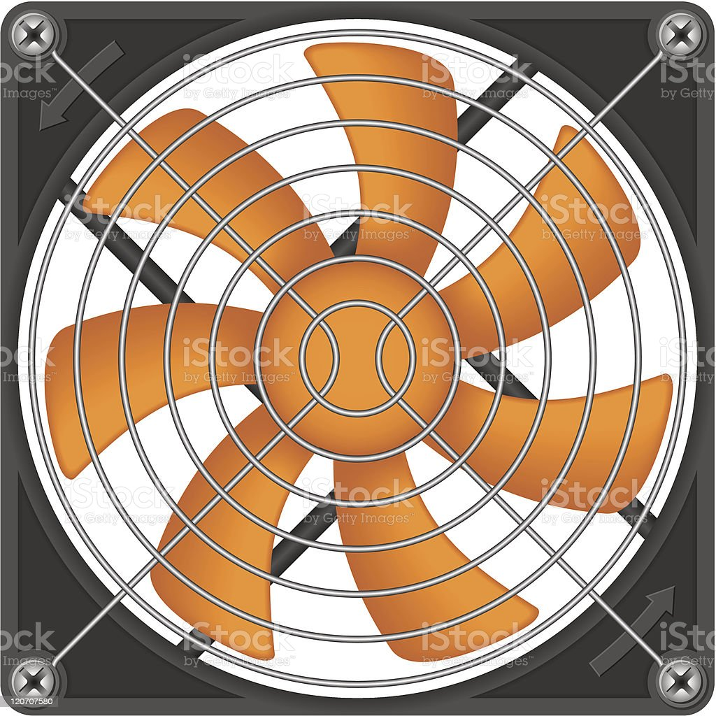 Computer chassis/CPU cooler royalty-free stock vector art