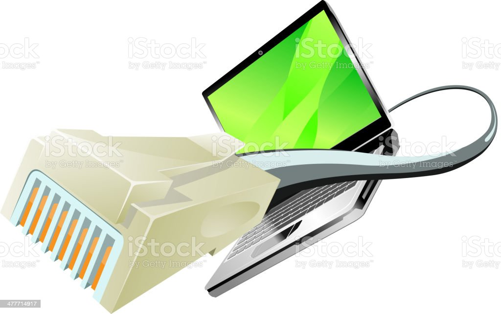 computer connected to internet royalty-free stock vector art