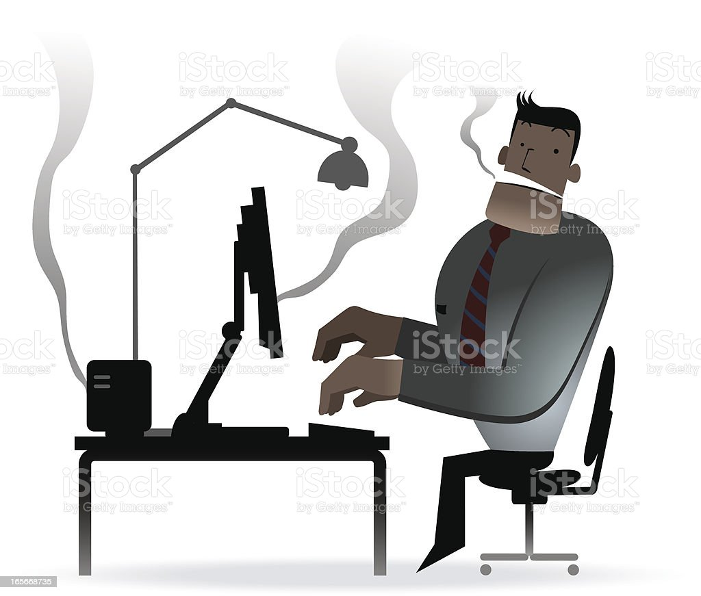 Computer Crashed Again... royalty-free stock vector art