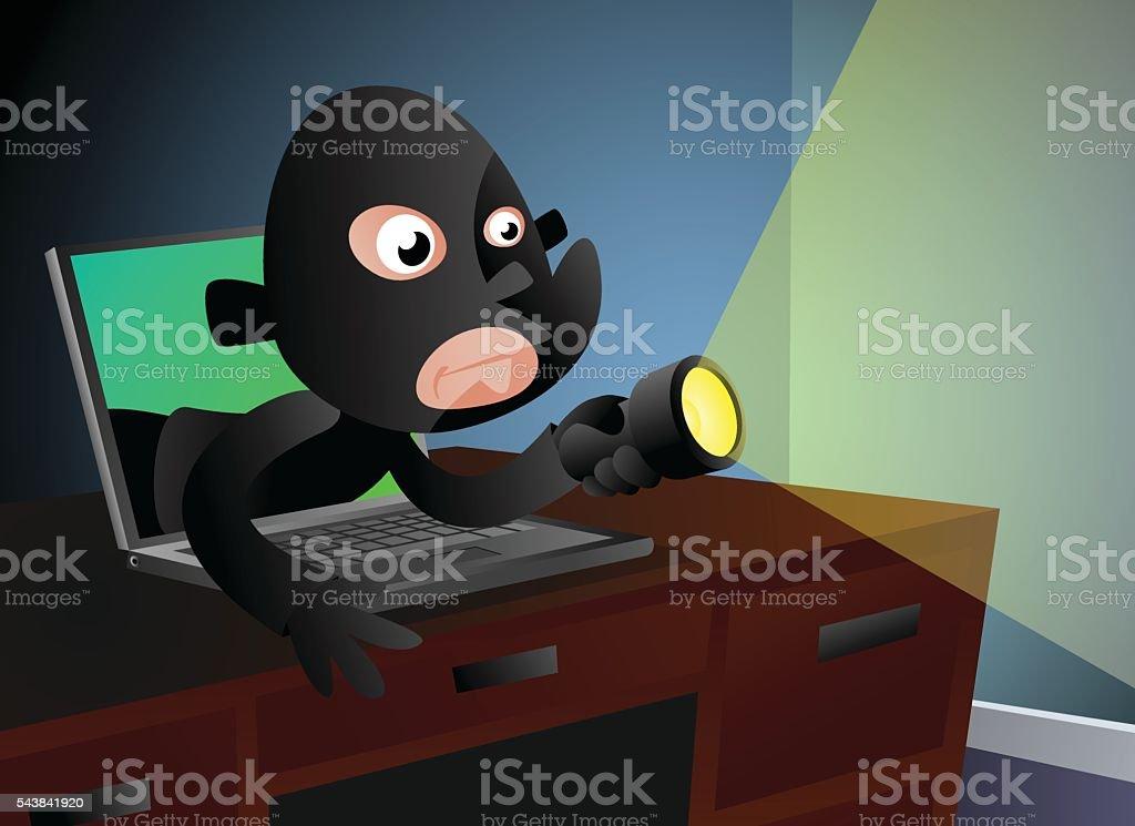 Computer Crime vector art illustration