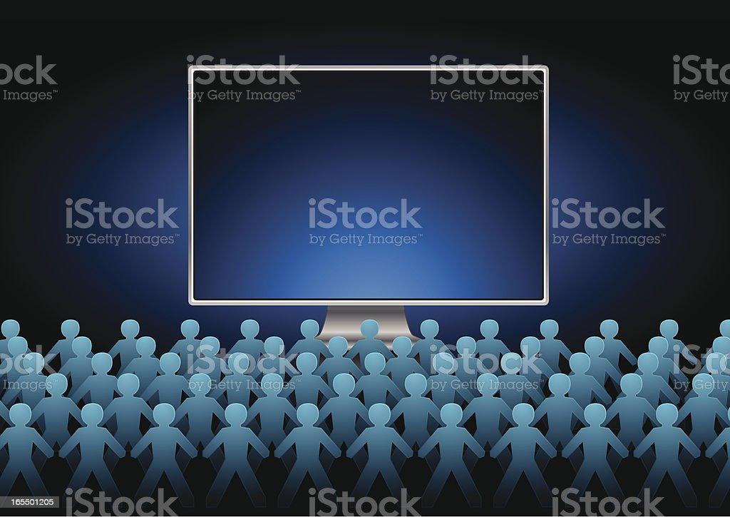 Computer crowd royalty-free stock vector art