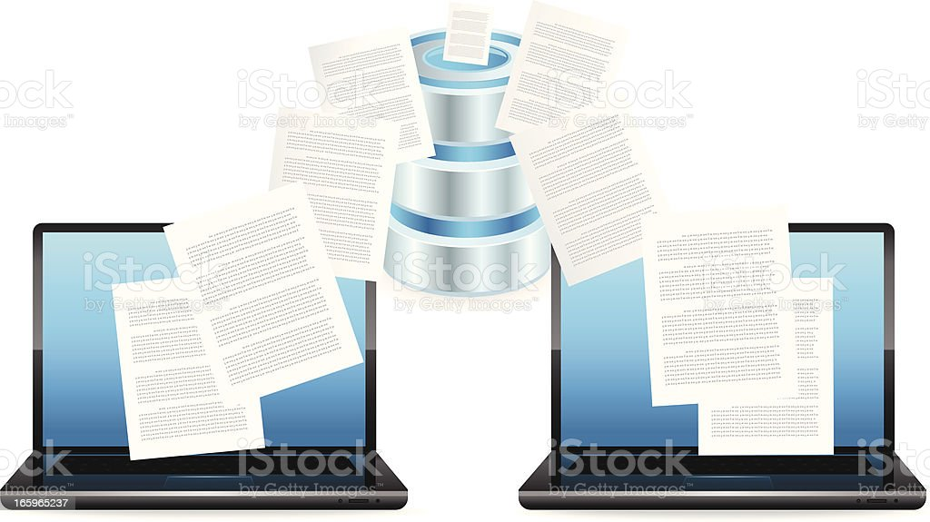 Computer Data Center royalty-free stock vector art